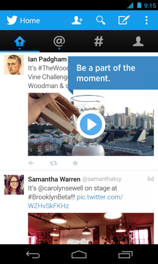 New Twitter Stream On Android Twitter App