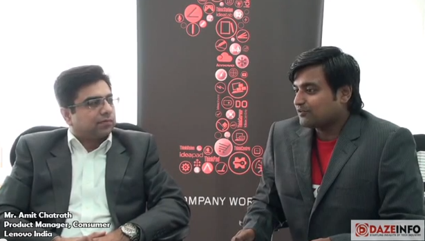Interview of Amit Chatrath, Product Manager, Lenovo India on the Gaming Industry and Lenovo's New Gaming Products by Shyam Swaraj, Brand Manager, DazeInfoTV