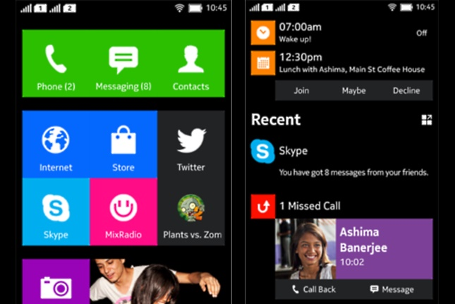 Nokia Normandy A110 Android UI