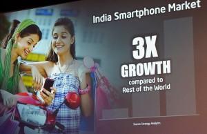 smartphone market india Q3 2014